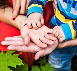 baby hands in adult hands
