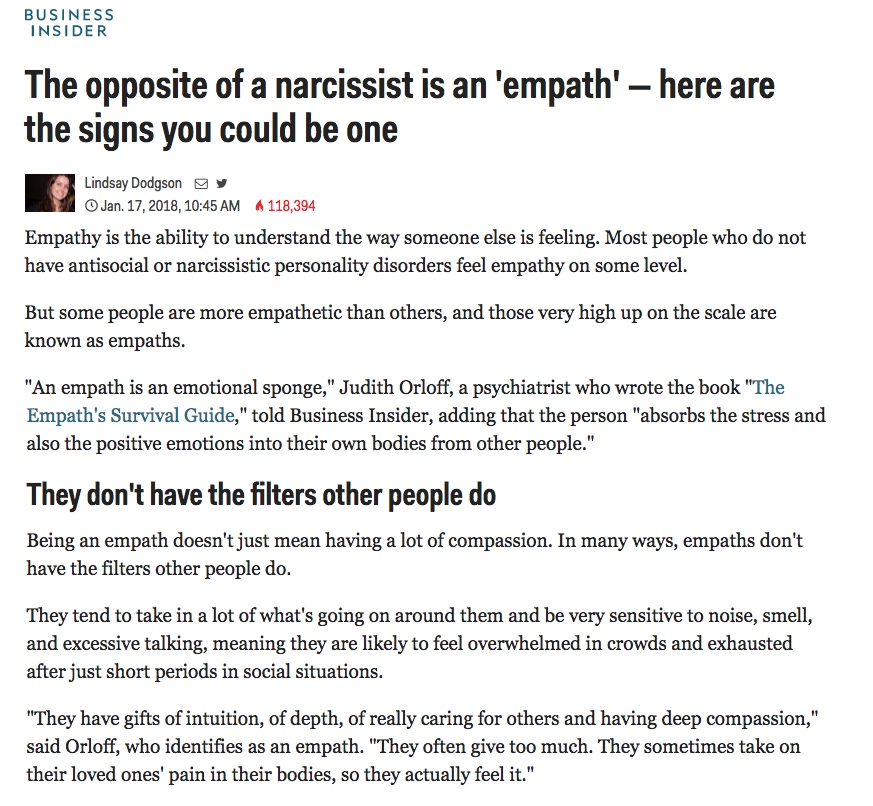 Business Insider-opposite of a narcissist